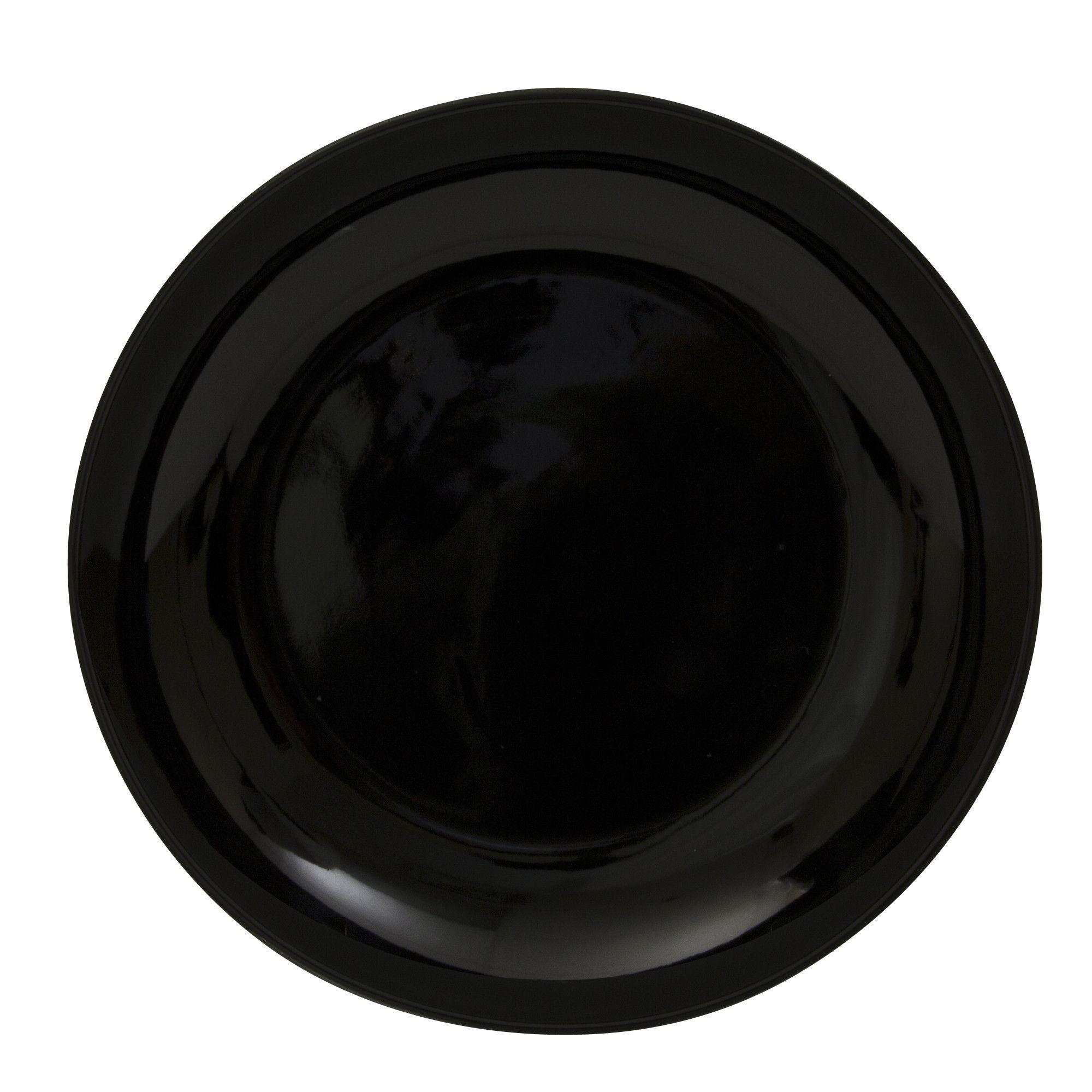 """Black Coupe 12"""" Buffet Plate (Set of 6)"""