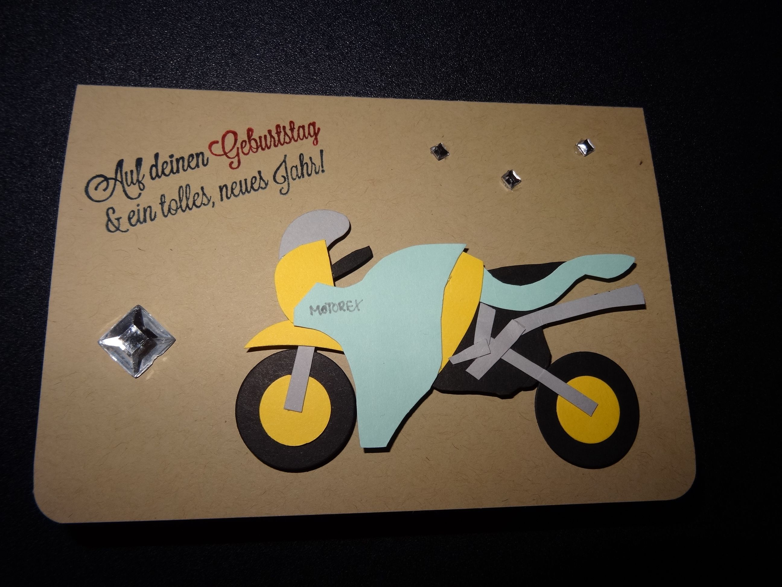 Stampin up karte geburtstag m nner geburtstagskarte biker motorrad teilweise su alles gute - Geburtstagskarte basteln mann ...