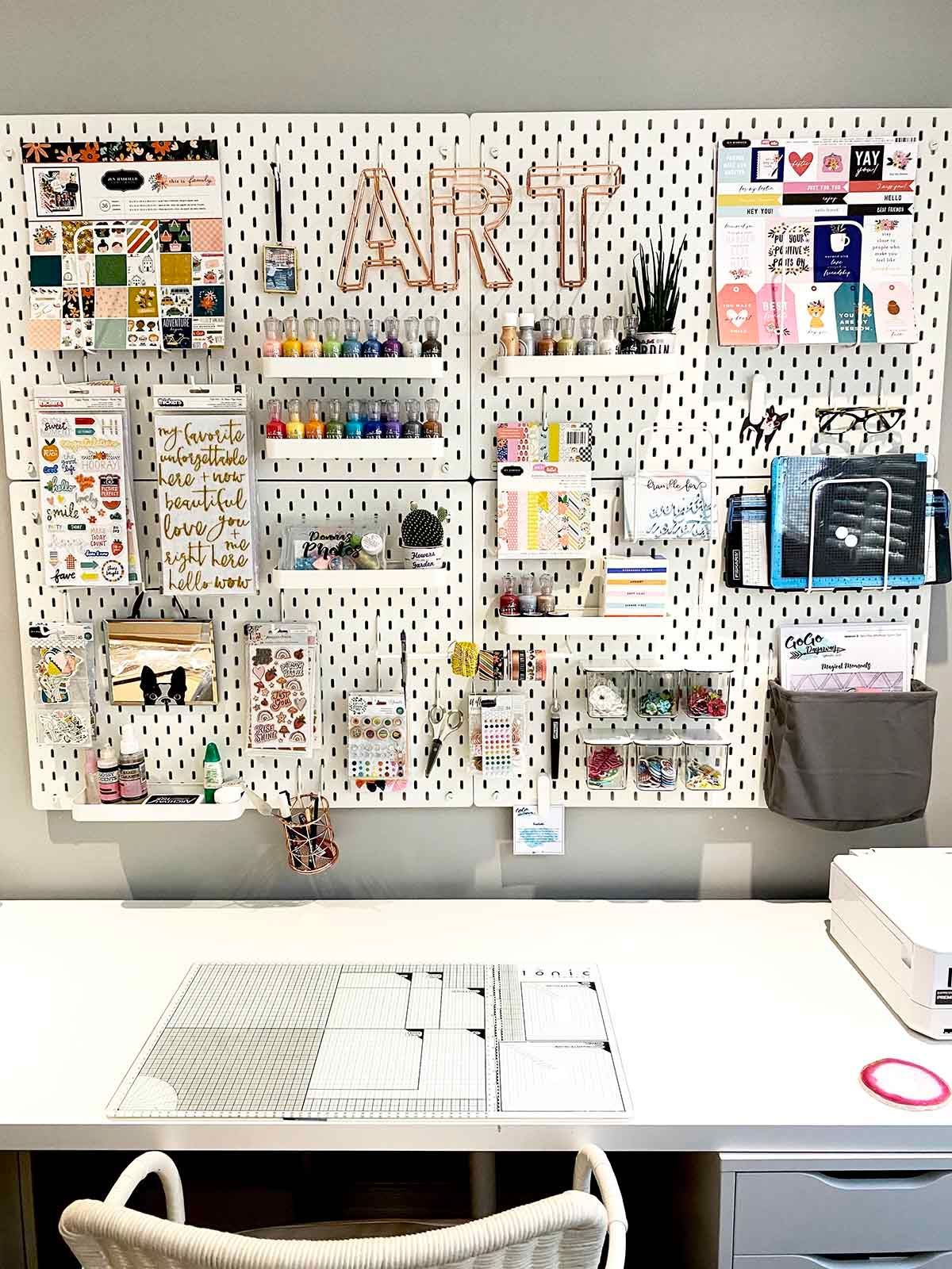 The most amazing Craft Room Ikea Pegboard
