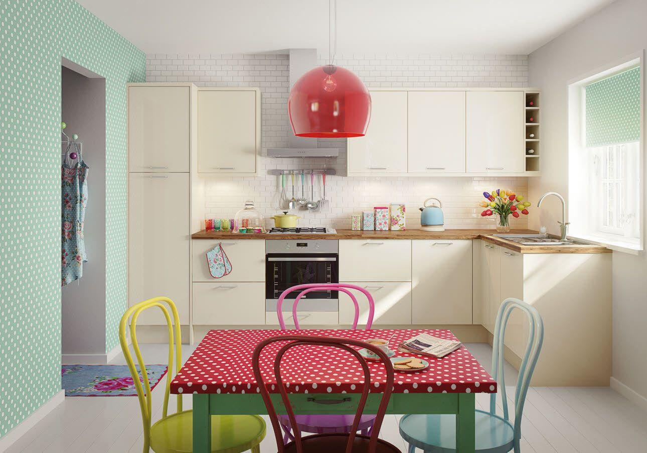Gloss Cream Slab Kitchen fittings, Kitchen units