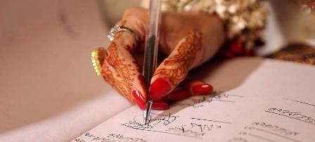 Image result for signing nikah