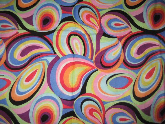 c3018498e9b6f Fantastic Vintage 60's-70's Cotton Fabric Stylized Paisley Psychedelic  Pop-Art 1 yd.. $20,00, via Etsy.