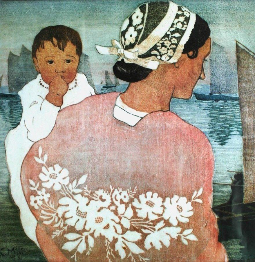 Baby and Mama ~ Carl Moser, 1873 -1939
