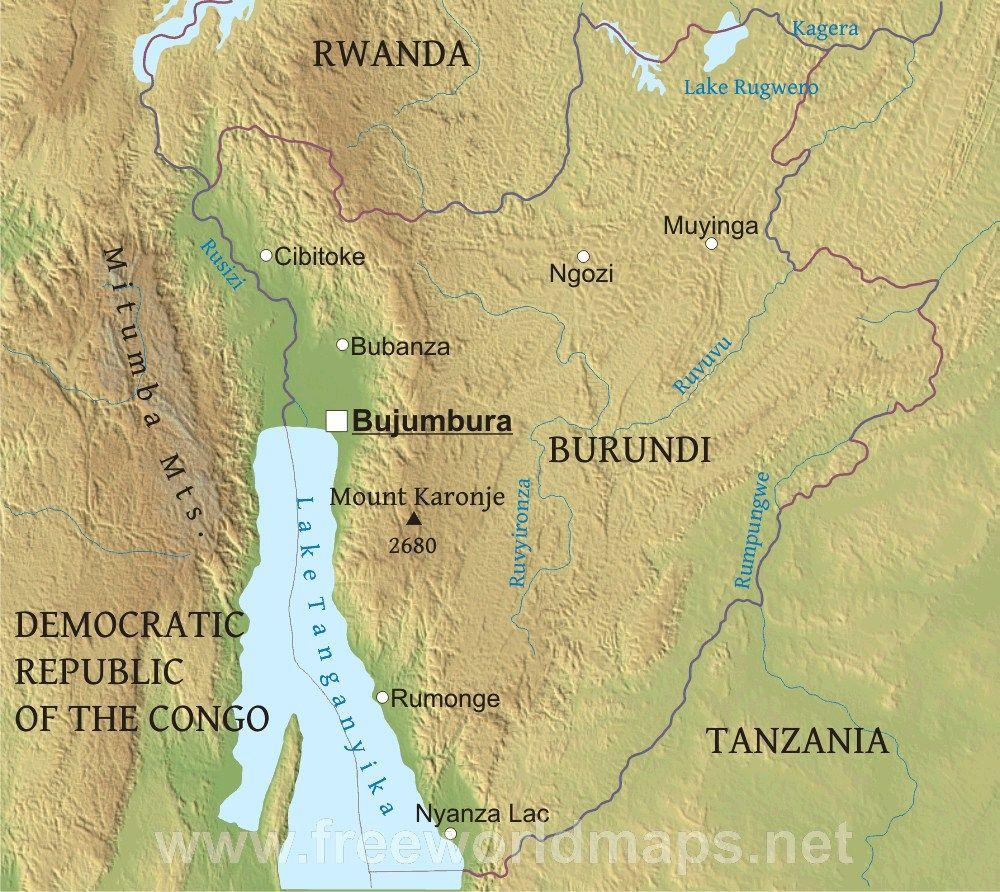 Burundi borders Burundi Pinterest