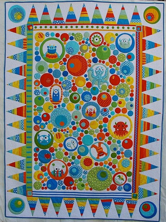 Little Monsters Quilt Pattern By Magpiepatterns On Etsy 2000