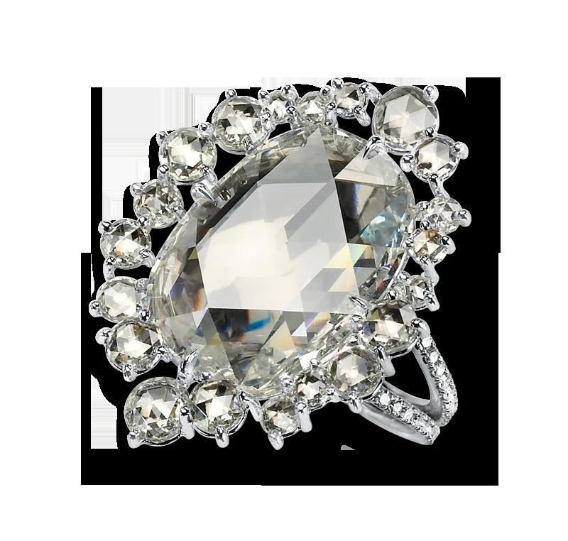 6ct rose cut diamond ring by Martin Katz
