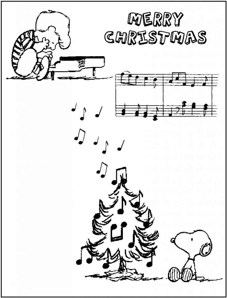 Charlie Brown Christmas Coloring Pages music. | Holiday Coloring ...