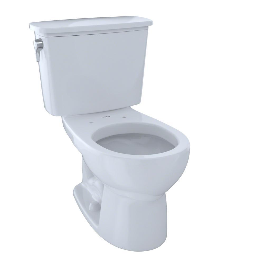 Toto Eco Drake Transitional 2 Piece 1 28 Gpf Single Flush Round Toilet In Cotton White With Images Toto Toilet