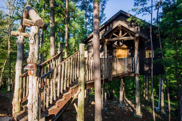 View Treehouse Arkansas Vacations Eureka Springs Spring Travel Destinations