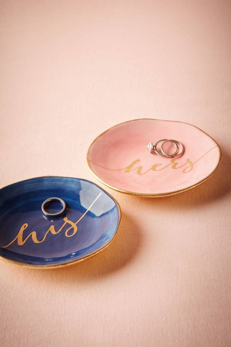 His & Hers Ring Dishes (With images) Ring dish, Wedding