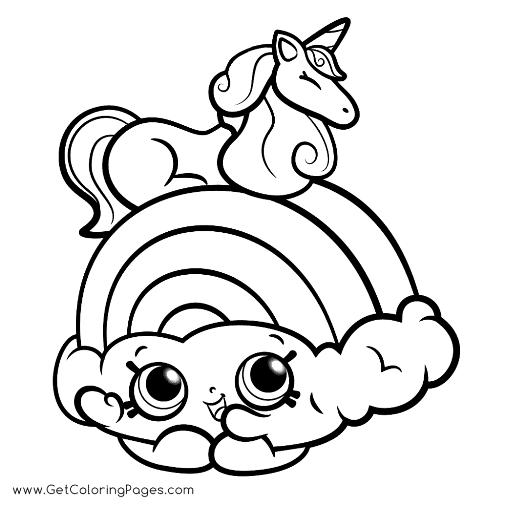 Shopkins Wild Style Coloring Pages   Unicorn coloring pages