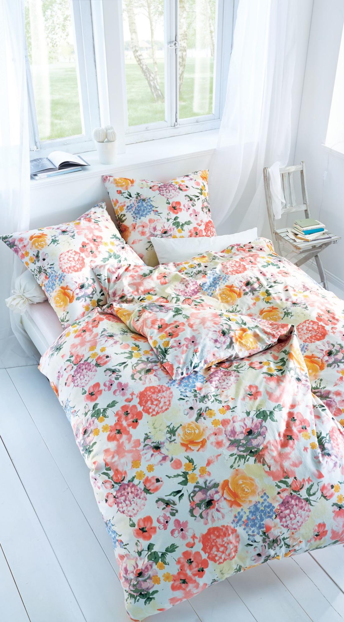 bunte bettw sche mit blumen muster trend pastell pinterest. Black Bedroom Furniture Sets. Home Design Ideas