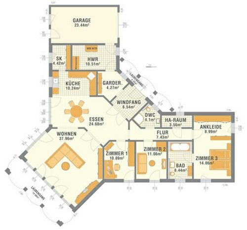 Bungalow Grundrisse House Floor Plans House Plans Und