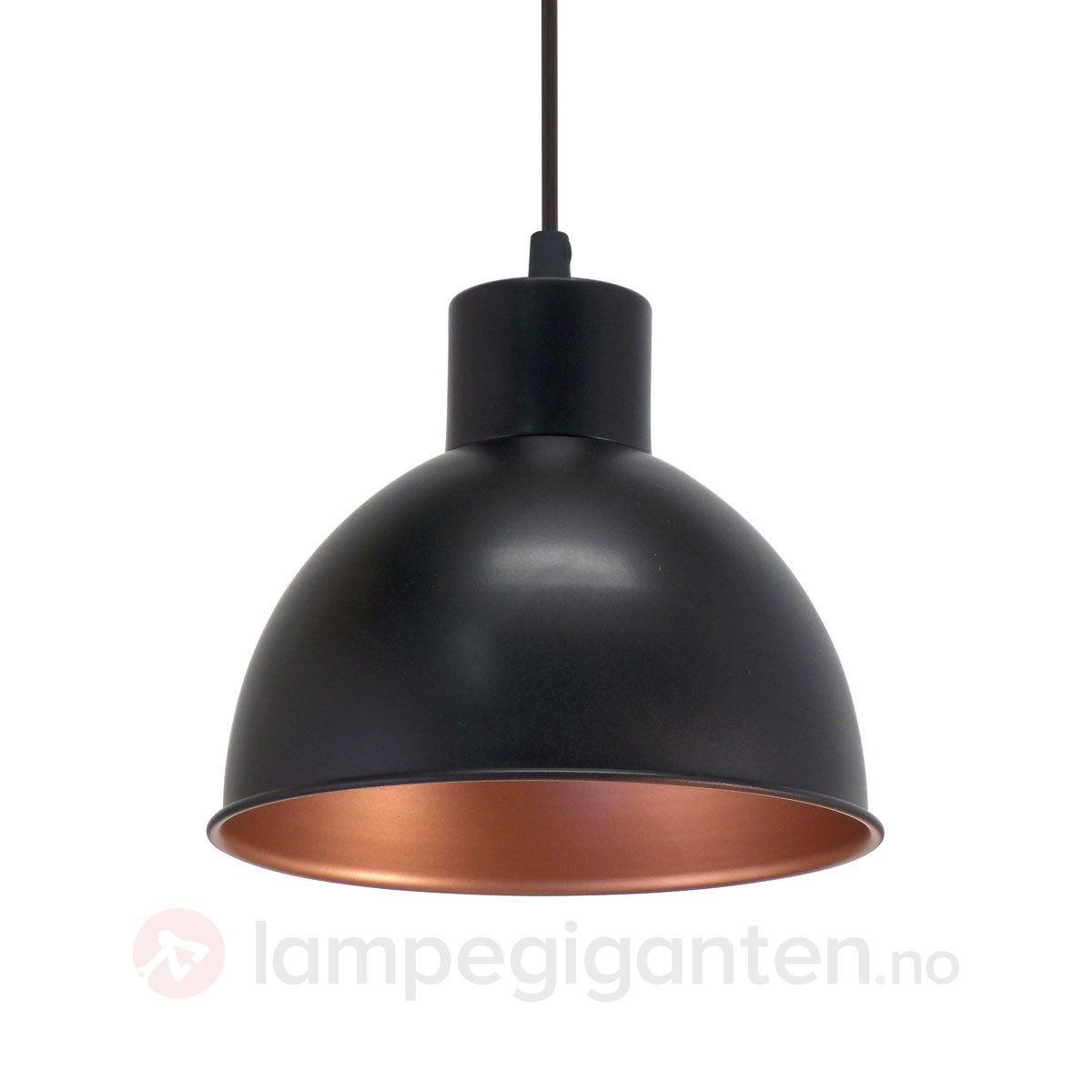 Svart Hengelampe Andrin Innvendig Kobber 3031601 Hengelampe Taklampe Taklamper