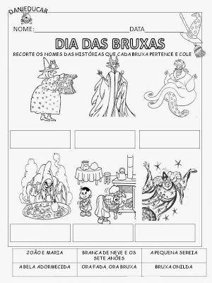 Atividades De Alfabetizacao Dia Das Bruxas Dia Das Bruxas