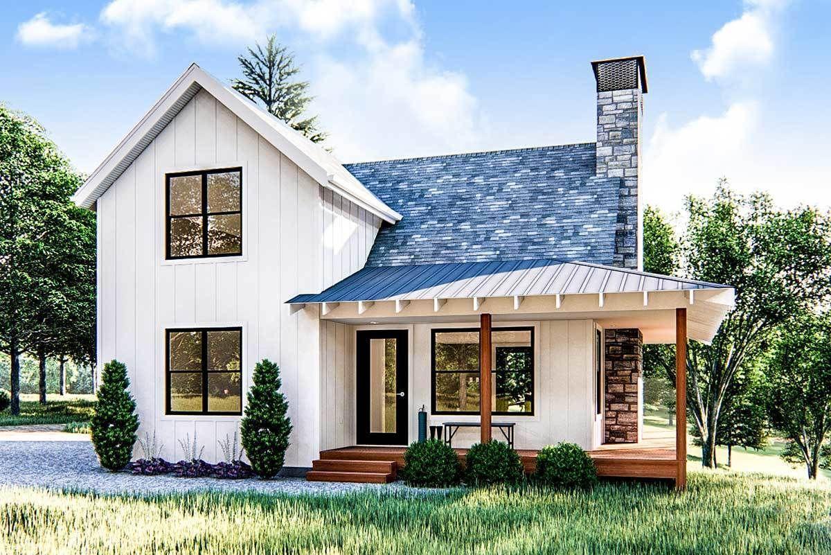 25 Best Tiny House Plansplan 62690dj Modern Farmhouse Cabin With Upstairs Loft Modern Farmh In 2020 Small Farmhouse Plans House Plans Farmhouse Cottage House Plans