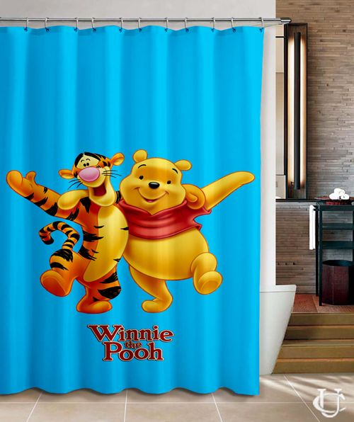Cheap Winnie The Pooh Ang Tiger Shower Curtain Cheap Disney Shower Curtain Shower Shower Curtain