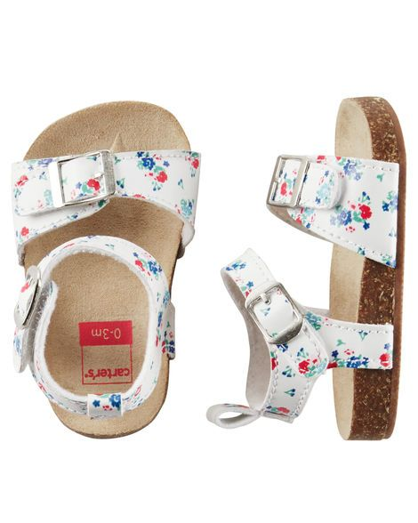 457e58aa7 Baby Girl Carter s Sandal Crib Shoes from Carters.com. Shop clothing    accessories from a trusted name in kids