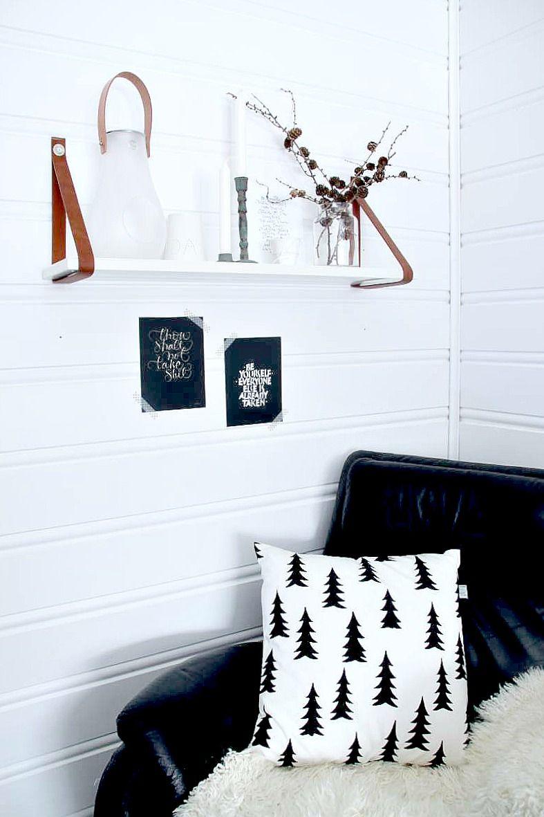 Har en drøm…: DIY shelves with leather