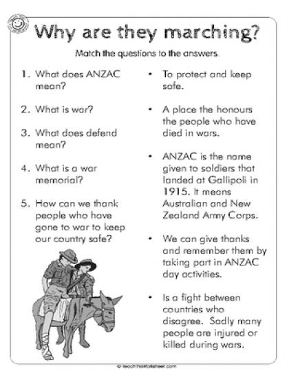 Anzac Day Worksheets Google Search Anzac Day Pinterest Anzac