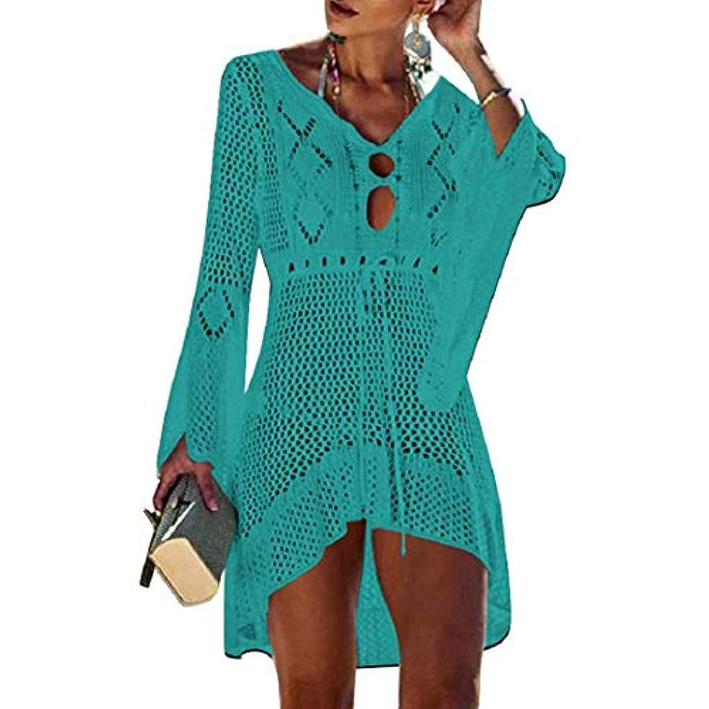 076ac6de6ad1 Voqeen Copricostume Donna Abito da Bagno Copricostume Donna Abito Spiaggia Costumi  da Bagno Donna Sexy Bikini