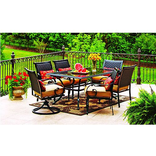 Better homes and gardens englewood heights 7 piece patio - Walmart lawn and garden furniture ...