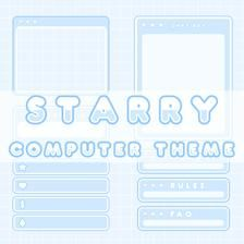 Starry Computer - Full Twitch Package (Blue)