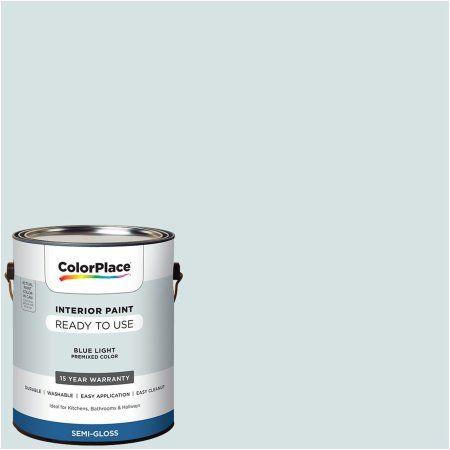 Colorplace Pre Mixed Ready To Use Interior Paint Blue Light Semi Gloss Finish 1 Gallon Walmart Com In 2020 Interior Paint Walmart Paint Colors Color Place Paint