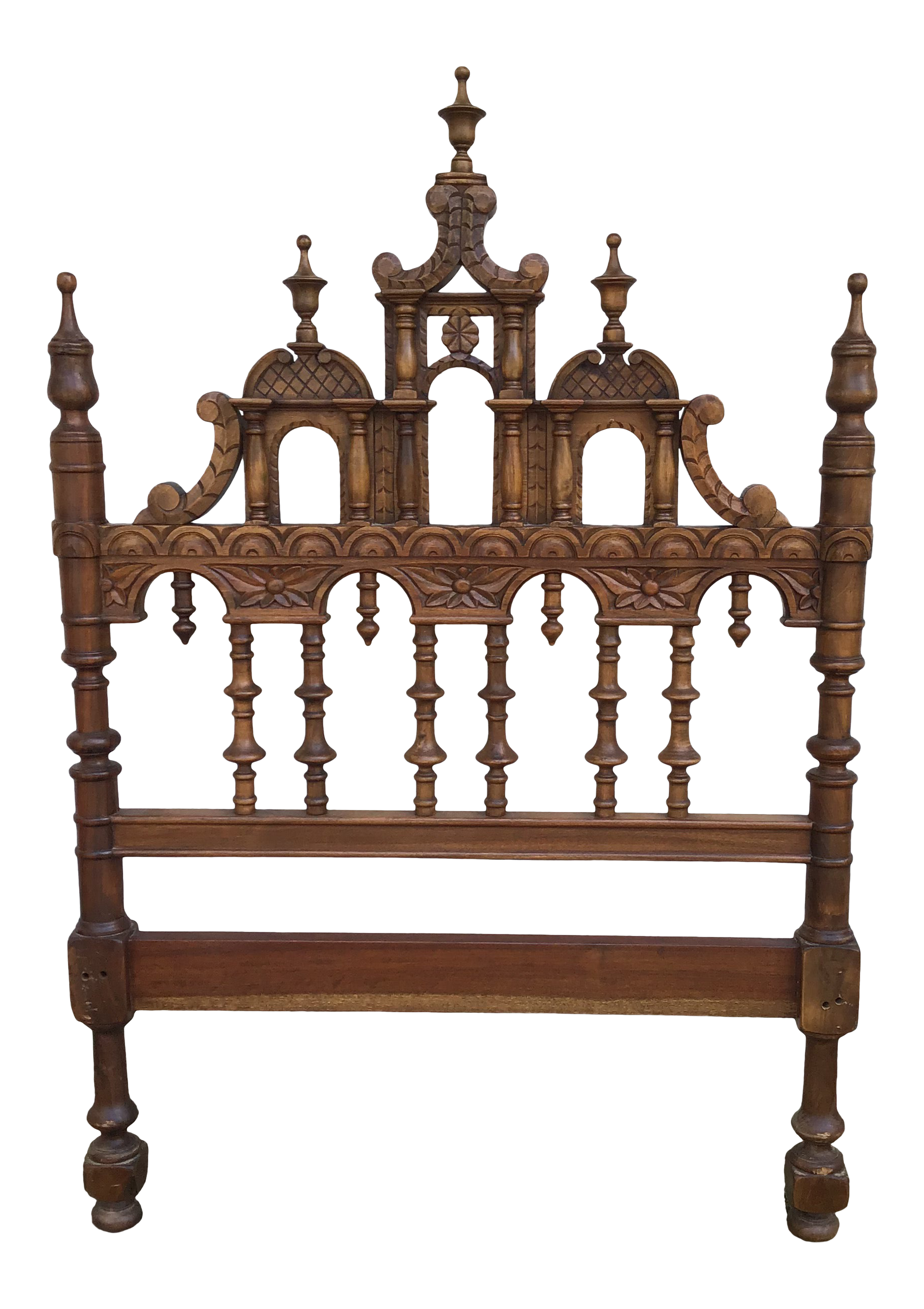 20th Century Victorian Aesthetic Twin Headboard Last