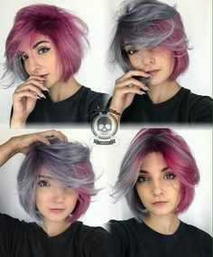 Image result for pink and grey hair