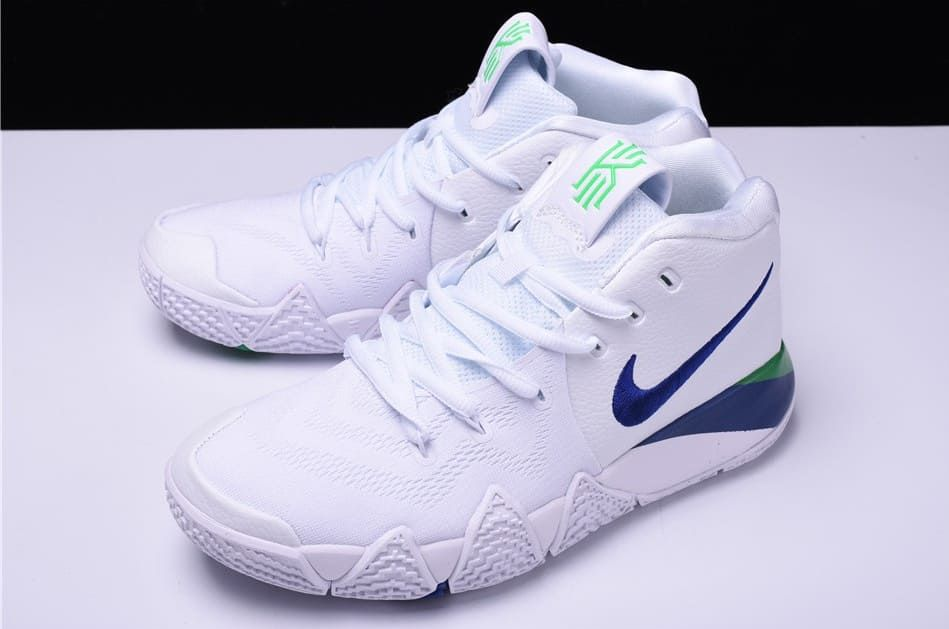 online retailer 5336b 2a3d4 Nike Kyrie 4 White Deep Royal Blue Release Date 943806-103   Sole Collector