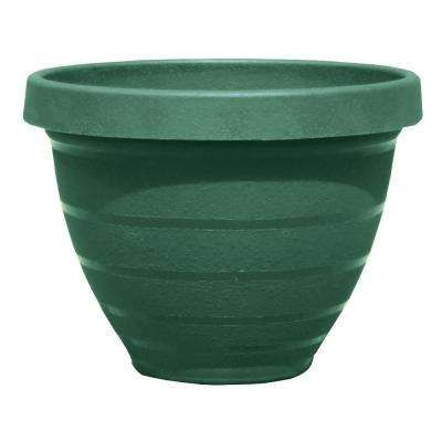 Rings 12 In Dark Moss Green Self Watering Resin Planter Resin Planters Planters Planter Pots