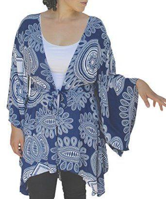30884422d20 Plus Size Tunic Cardigan, Kimono Sleeve Style, Womens Plus Sizes, Bust up to