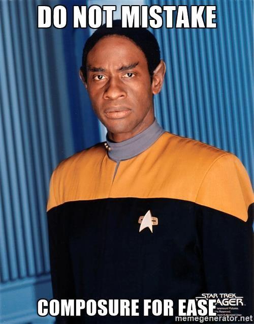 Tuvok - Do Not Mistake Composure for Ease | Star trek, Star trek voyager,  Black actors