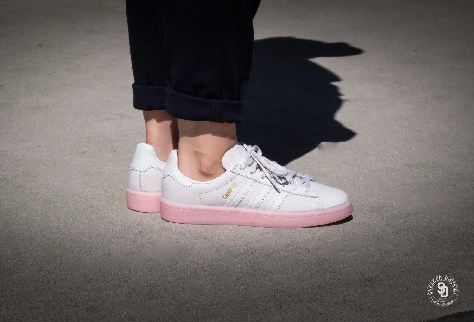 Adidas Campus W - Crystal White/Icey Pink - BY9839