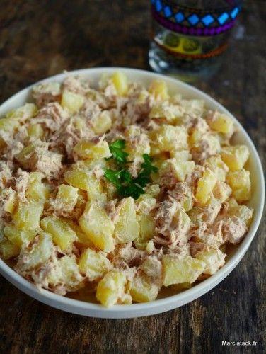 recette de salade pommes de terre au thon recette restant du salade de pommes de terre et. Black Bedroom Furniture Sets. Home Design Ideas