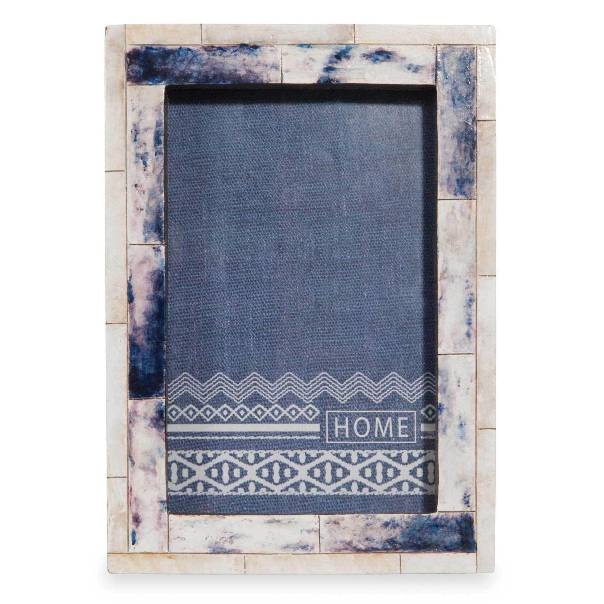 Marco de fotos crudo y azul 13x18 cm ESCALE | Villa Lu | Pinterest ...