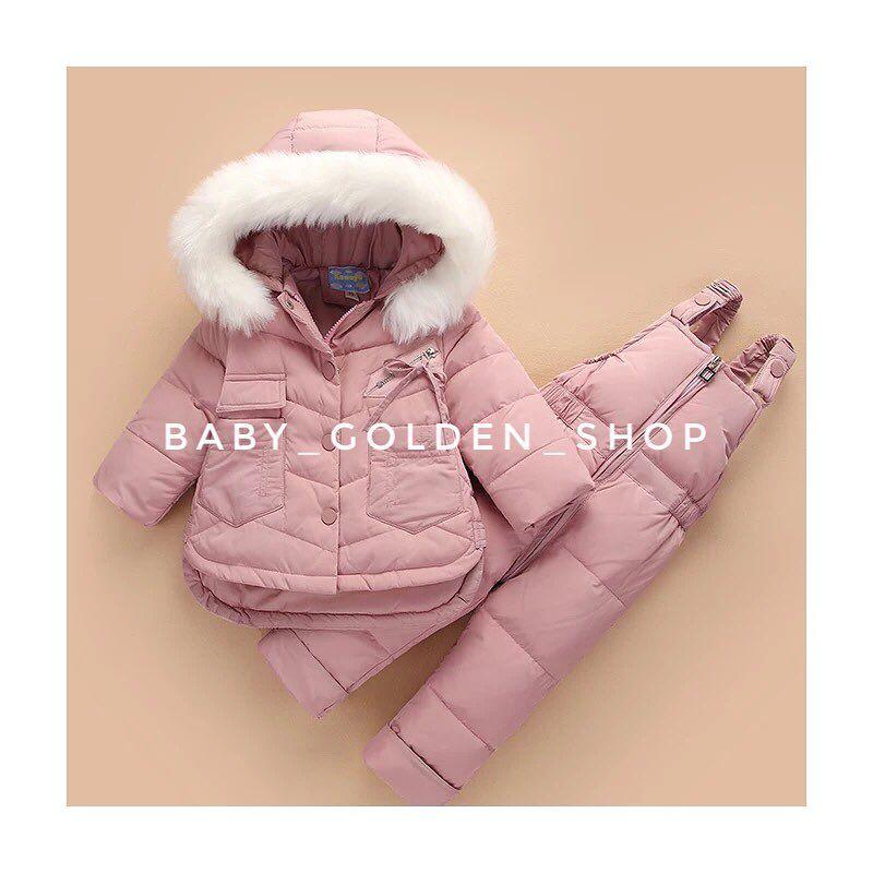 MOF Kids winter coats girls hooded down parka thicken fur