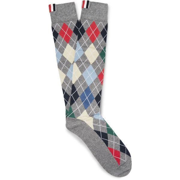Intarsia Cotton And Nylon-blend Socks Thom Browne 2018 Cheap Online vCtrKPe