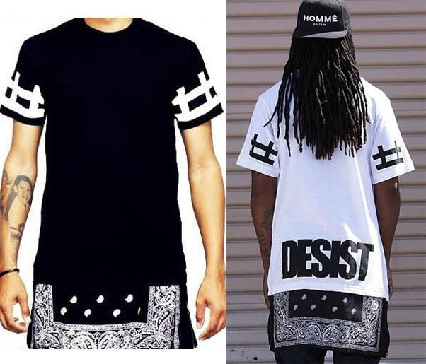 2015 New Fashion Men/women's Hip Hop T-shirt Bandana Style Summer Short  Sleeve