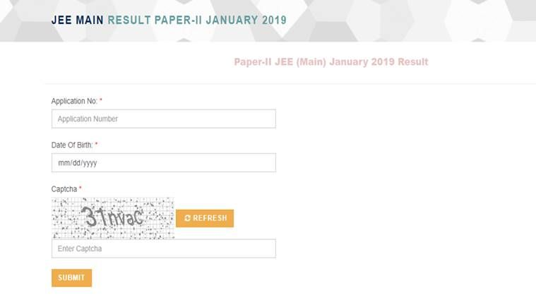Nta Released The Results For The Jee Main Paper 2 Maine Number Date Paper