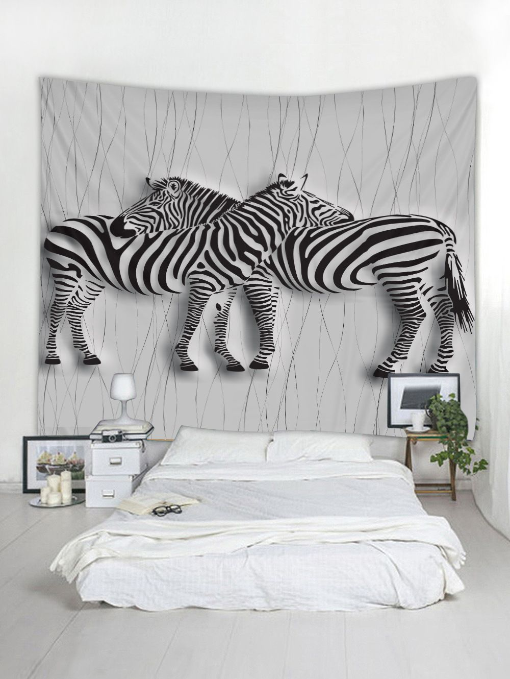 Black And White Zebra Wall Tapestry | Wall Decor | White ...