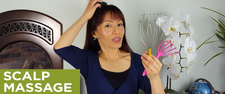 Use This Simple Scalp Massage Technique to Improve Blood Circulation | Face Yoga Method