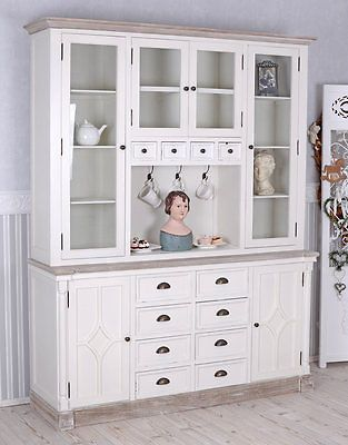 Küchenbuffet Shabby Chic Buffet Weiss Küchenschrank Vitrine - esszimmer buffet