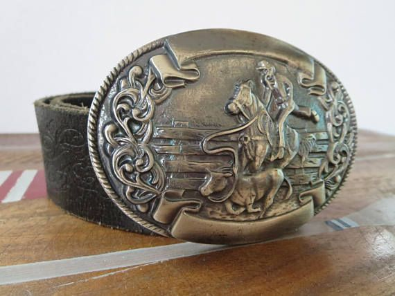 Mens Cowboy Belts Antique silver belt buckles Western Cowgirl Italian leather