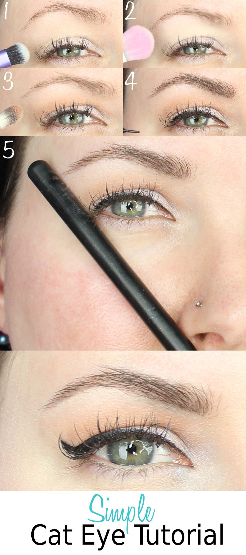 Simple cat eye tutorial for hooded eyes cat eye tutorial hooded simple cat eye tutorial for hooded eyes baditri Image collections