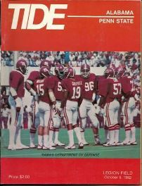 10/9/82   Penn State vs. Alabama   Legion Field    21-42