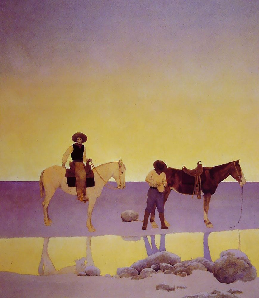 Professional Guaranteed House Painting Western Springs: Maxfield Parrish/ Cowboys' Hot Springs Az.