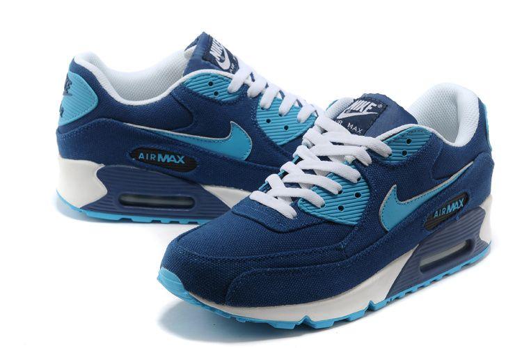mens sneakers nike air max 90 blue denim sofa