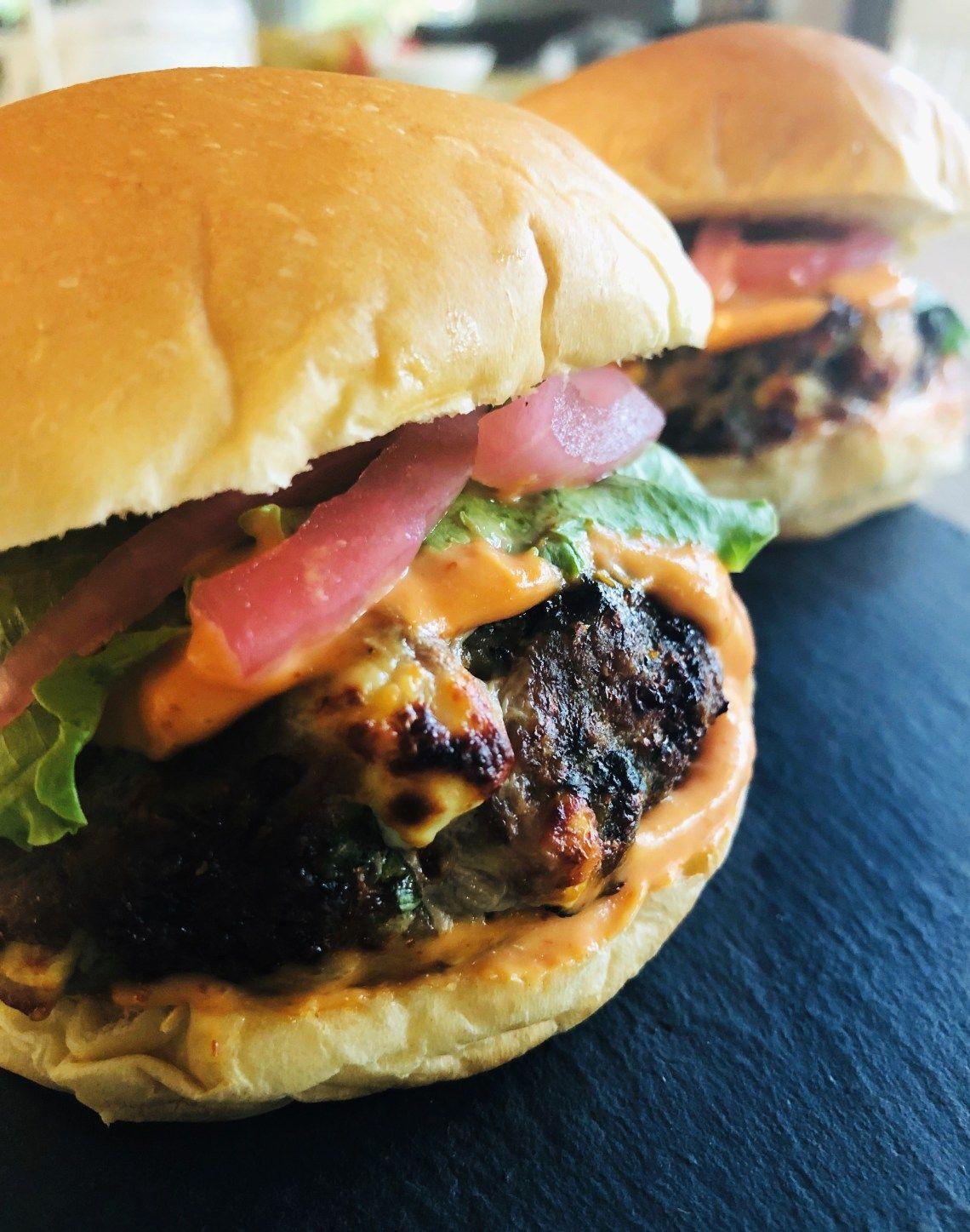 Air Fryer Spinach Feta Turkey Burgers Recipe Turkey